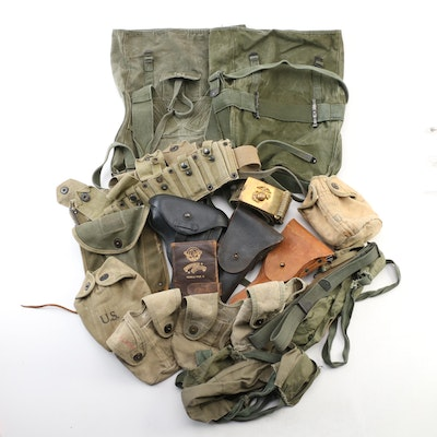 World War II United States Combat Gear, circa 1940s