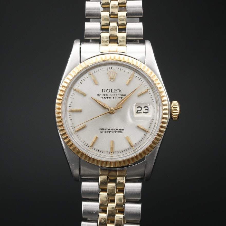 "1965 Rolex ""Datejust"" 14K and Stainless Steel Automatic Wristwatch"