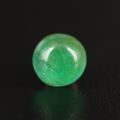 Loose 1.30 CT Round Cabochon Emerald