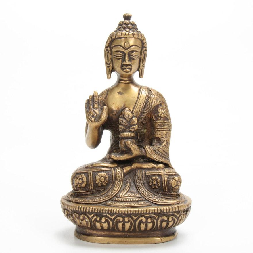Sino-Tibetan Brass Figure of Buddha