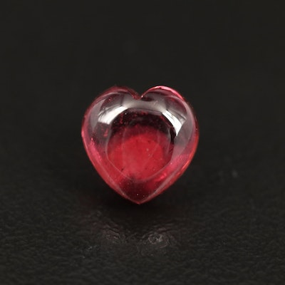 Loose 2.58 CT Heart Shaped Rubellite Tourmaline