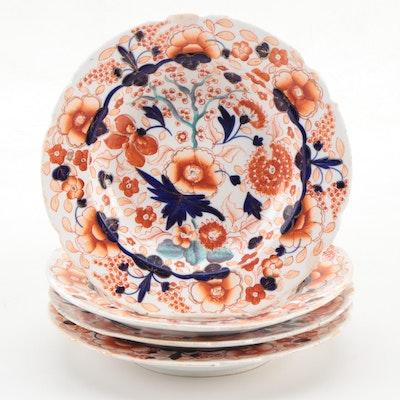 English Imari Ceramic Bowls, 19th Century