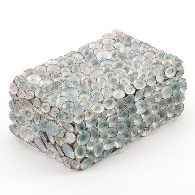 Limpit Seashell Encrusted Hinged Box