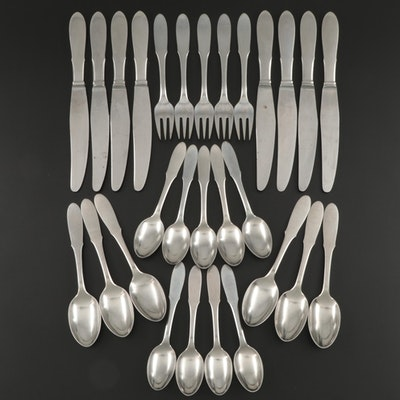"Georg Jensen ""Mitra"" Stainless Steel Flatware, Mid to Late 20th Century"