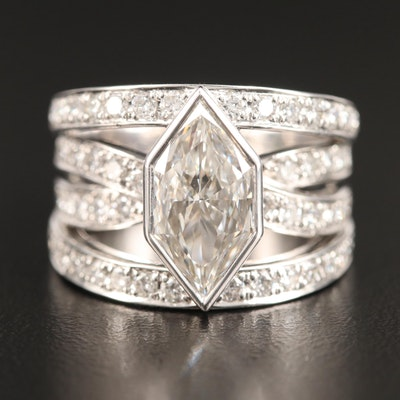 18K 3.23 CTW Diamond Ring