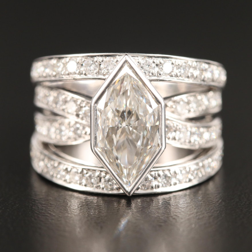 18K 3.23 CTW Diamond Ring