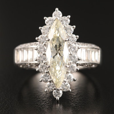 Platinum 3.20 CTW Diamond Ring