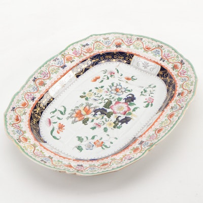 Mason's Chinoiserie Hand-Colored Transferware Ironstone Well Platter