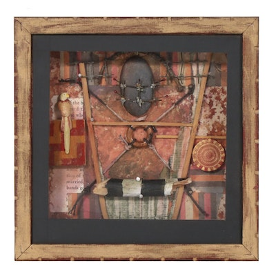 Jerome D'Angelo Hand-Painted Mixed Media Assemblage, 1997