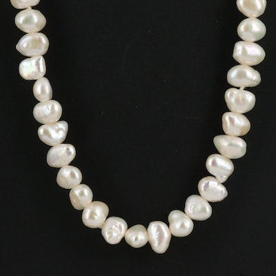 Baroque Pearl Continuous Necklace