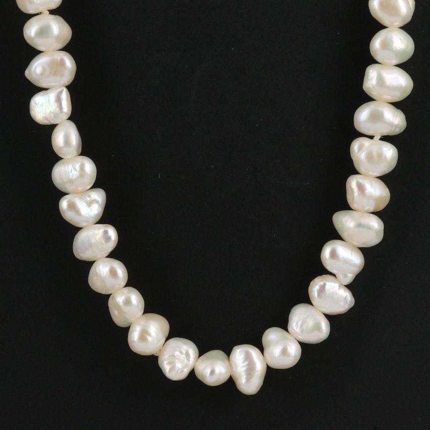 Baroque Pearl Continuous Necklace