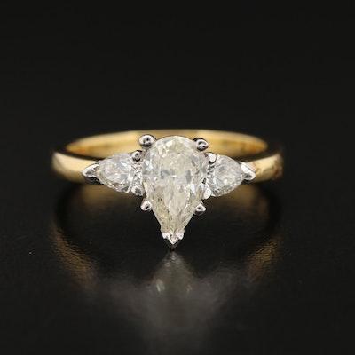 18K Two Tone 1.23 CTW Diamond Ring