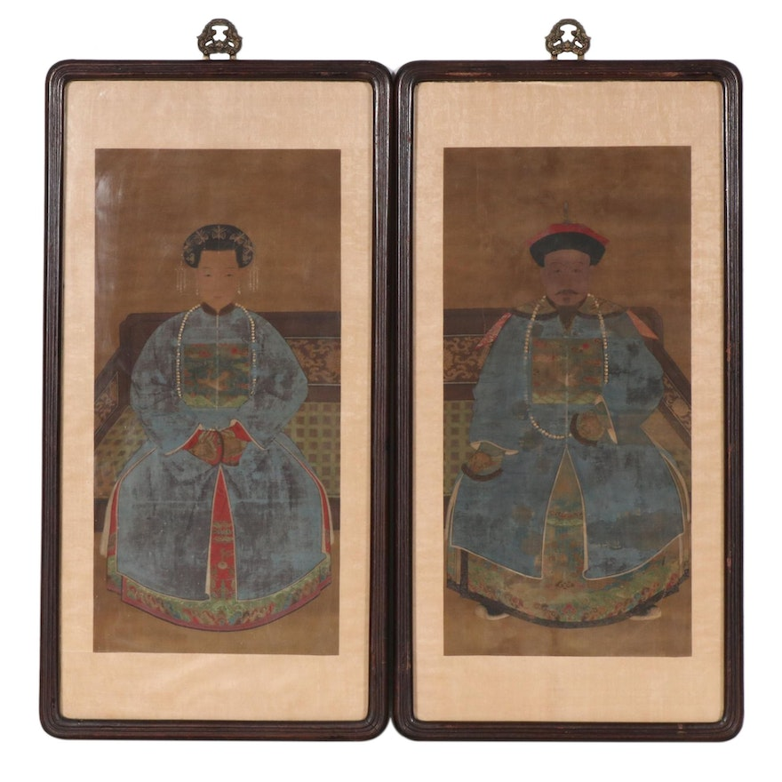 Chinese Qing Dynasty Ancestral Portraits