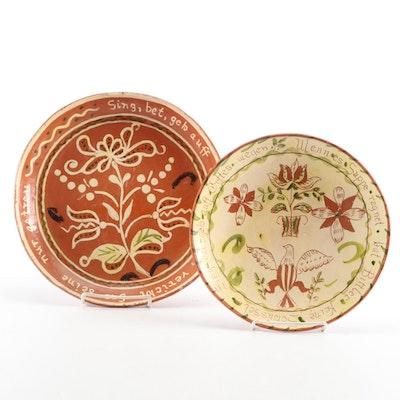 Pennsylvania Silpware Motto Plates, Mid to Late 20th Century