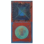 Jerome D'Angelo Acrylic Painting of Abstract Composition, 2002