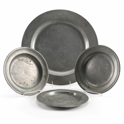 English and American Pewter Tableware, Antique