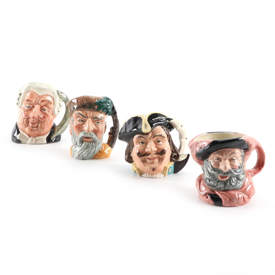 "Royal Doulton ""Falstaff"", ""Robinson Crusoe"" and Other Character Mugs"