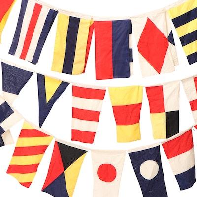 International Maritime Signal Flags and Pennants Garlands