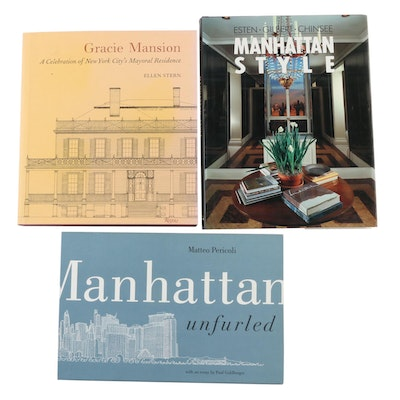 """Signed """"Gracie Mansion"""" with """"Manhattan Style"""" and """"Manhattan Unfurled"""" Books"""