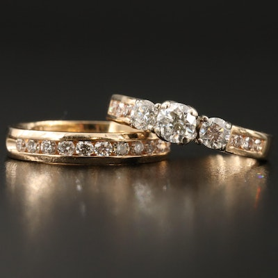 14K 1.32 CTW Diamond Ring Set