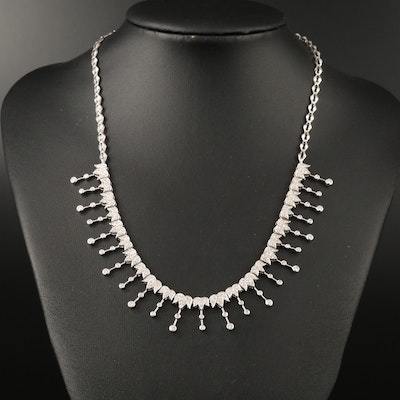 14K 2.50 CTW Diamond Fringe Necklace