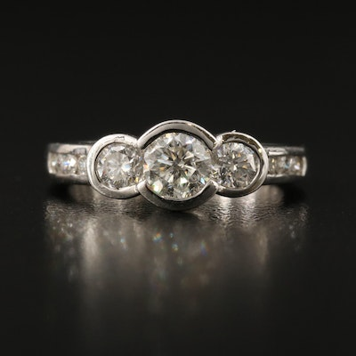 14K 1.18 CTW Diamond Stepped Ring
