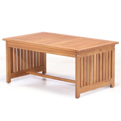 Noble House Home Furnishings Acacia Patio Coffee Table