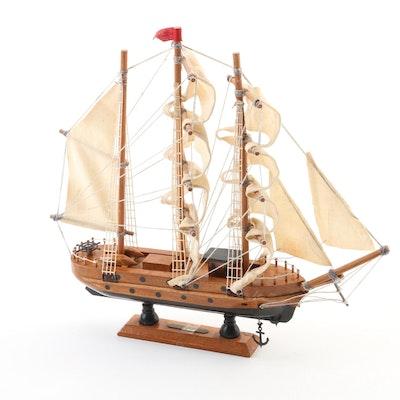 Wooden Barque Model Sail Ship