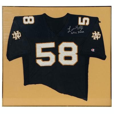 Lou Holtz Autographed Framed Notre Dame Football Jersey