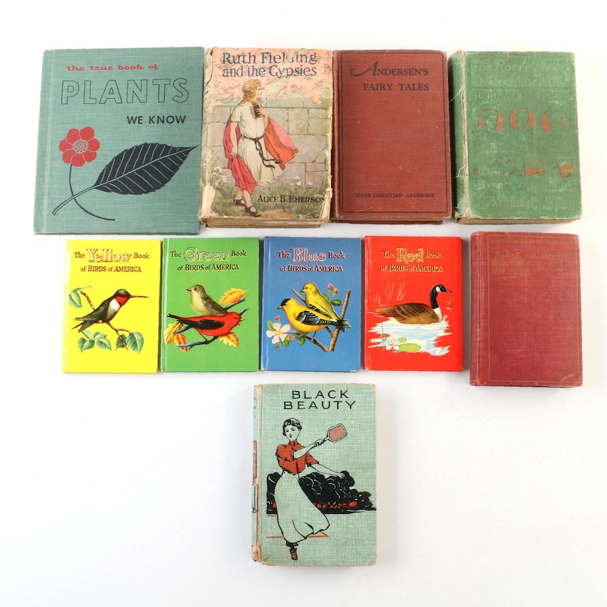 """First Edition """"Ruth Fielding and the Gypsies"""" with Other Children's Books"""