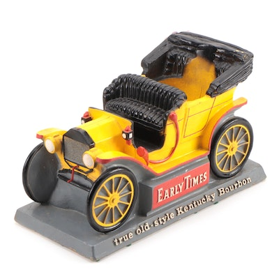 "1908 Ford Model T ""Tin Lizzie"" Chalkware Early Times Kentucky Bourbon Display"