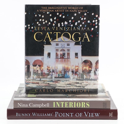 "Signed Interior Design Books Featuring First Edition ""Festa Veneziana a Ca'toga"""