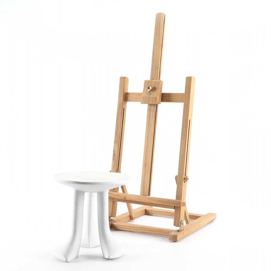 Wooden Easel with Miniature Composite Table after John Dickinson