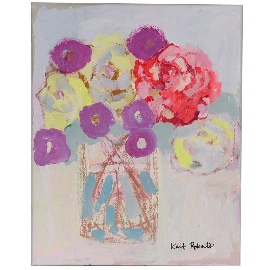 "Kait Roberts Acrylic Painting ""Strawberry Lemonade"", 2020"