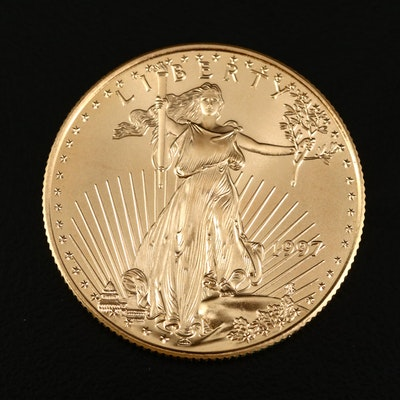 Low Mintage 1997 1/2 Troy Ounce $25 American Eagle Gold Bullion Coin