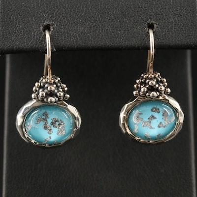 Michael Dawkins Sterling Rock Crystal Quartz Doublet Earrings