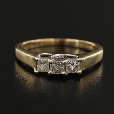14K Diamond Peek-a-Boo Ring