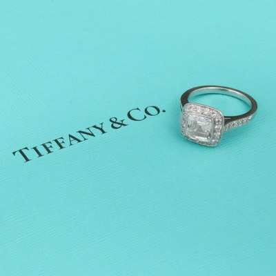 Tiffany & Co. Platinum 2.34 CTW Diamond Ring with Tiffany & Co. Certificate