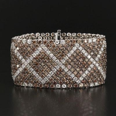 18K 44.22 CTW Diamond Ribbon Bracelet
