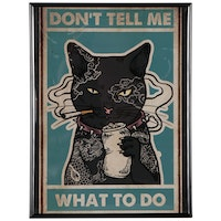 """Giclee Print of Smoking Cat """"Don't Tell Me What to Do"""""""