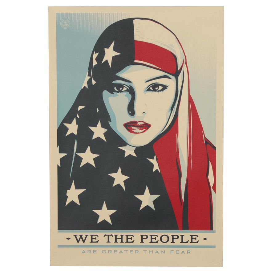 """Offset Print Poster after Shepard Fairey """"We the People: Are Greater Than Fear"""""""