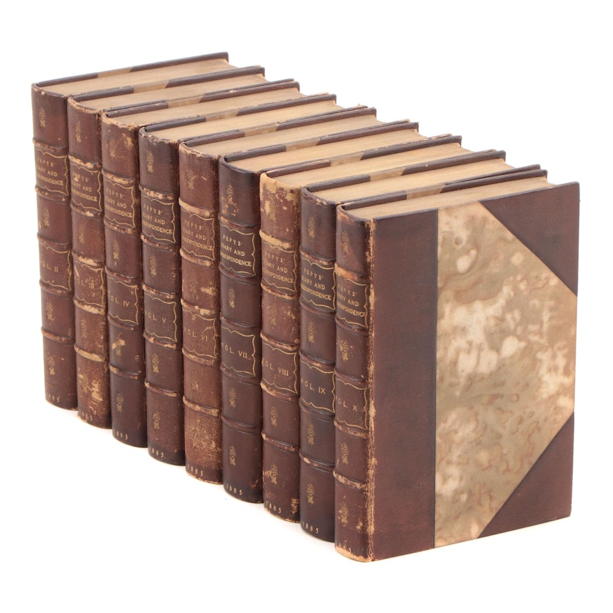 """""""Diary and Correspondence of Samuel Pepys"""" Near Complete Set, 1885"""