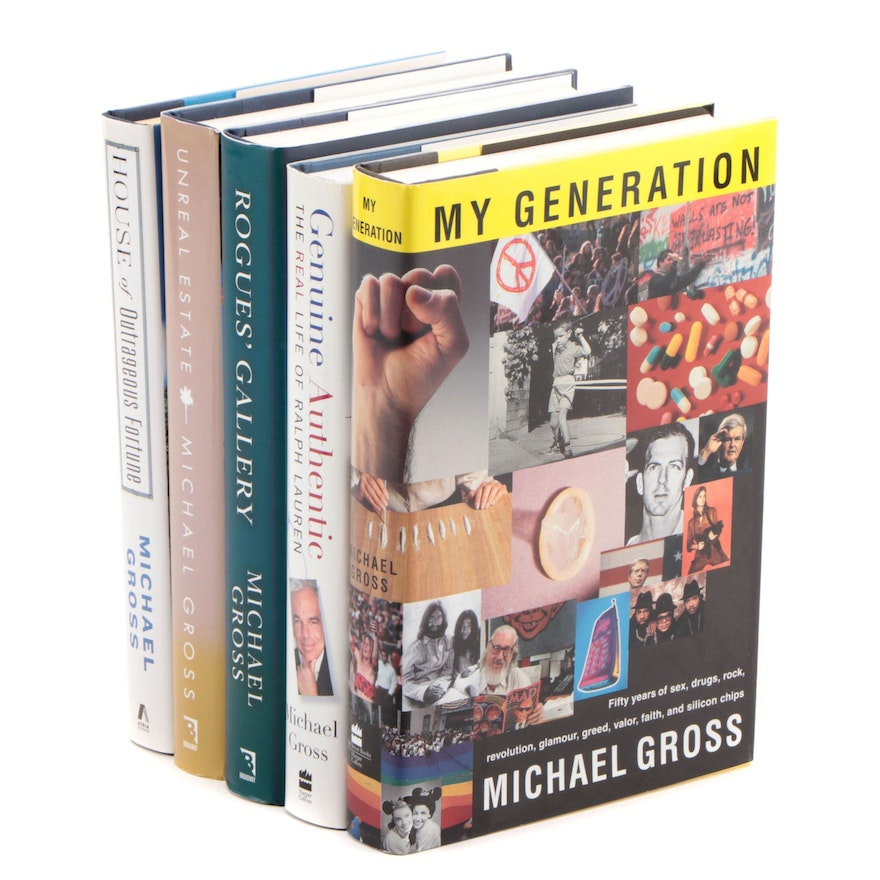 """Signed First Edition Books by Michael Gross Including """"My Generation"""""""