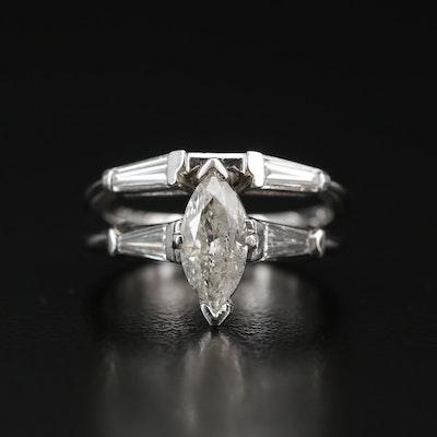 Platinum 1.68 CTW Diamond Ring Set