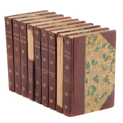 """Leather Bound """"The Works of Victor Hugo"""" Incomplete Set, Early 20th Century"""