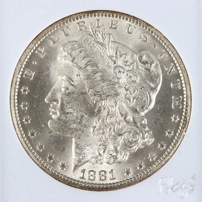 Key Date Low Mintage 1881-CC Morgan Silver Dollar