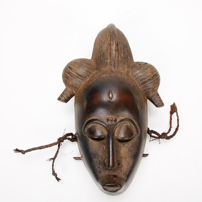 Baule Carved Wood Mask, West Africa