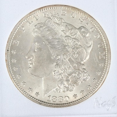 Better Date Low Mintage 1880-CC Morgan Silver Dollar