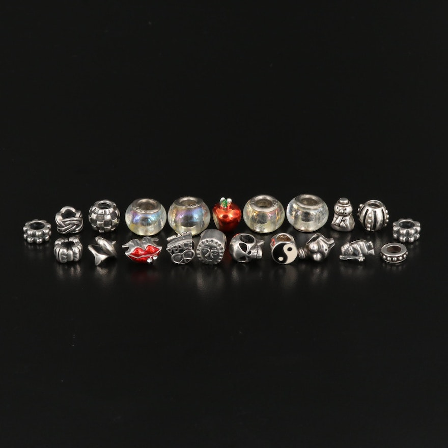 Selection of Sterling Silver Charm Beads Featuring 'Venus of Willendorf'