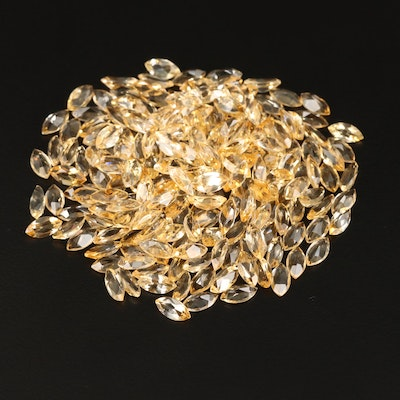 Loose 100.14 CTW Marquise Faceted Citrines